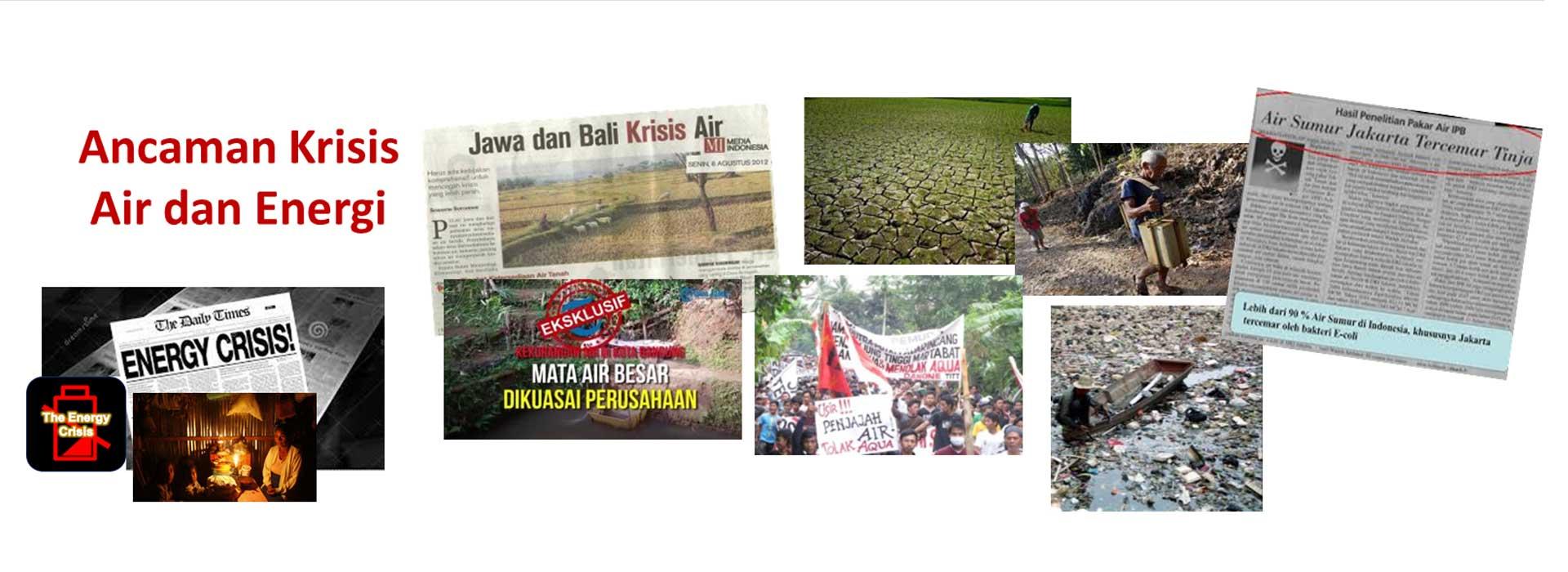 Krisis air dan energi di Indonesia